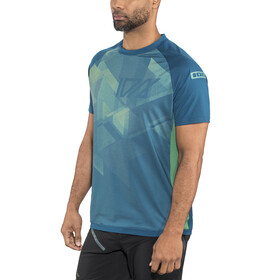ION Traze AMP Bike Jersey Shortsleeve Men blue/turquoise